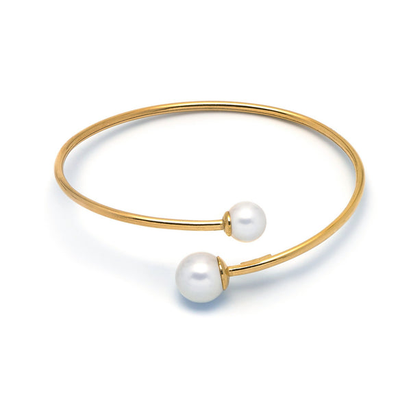 La DUO PERLA Bangle - Gold