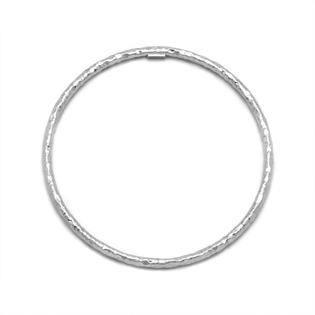 La HAMMERED Bangle - Silver - SALE - Georgiana Scott Jewellery