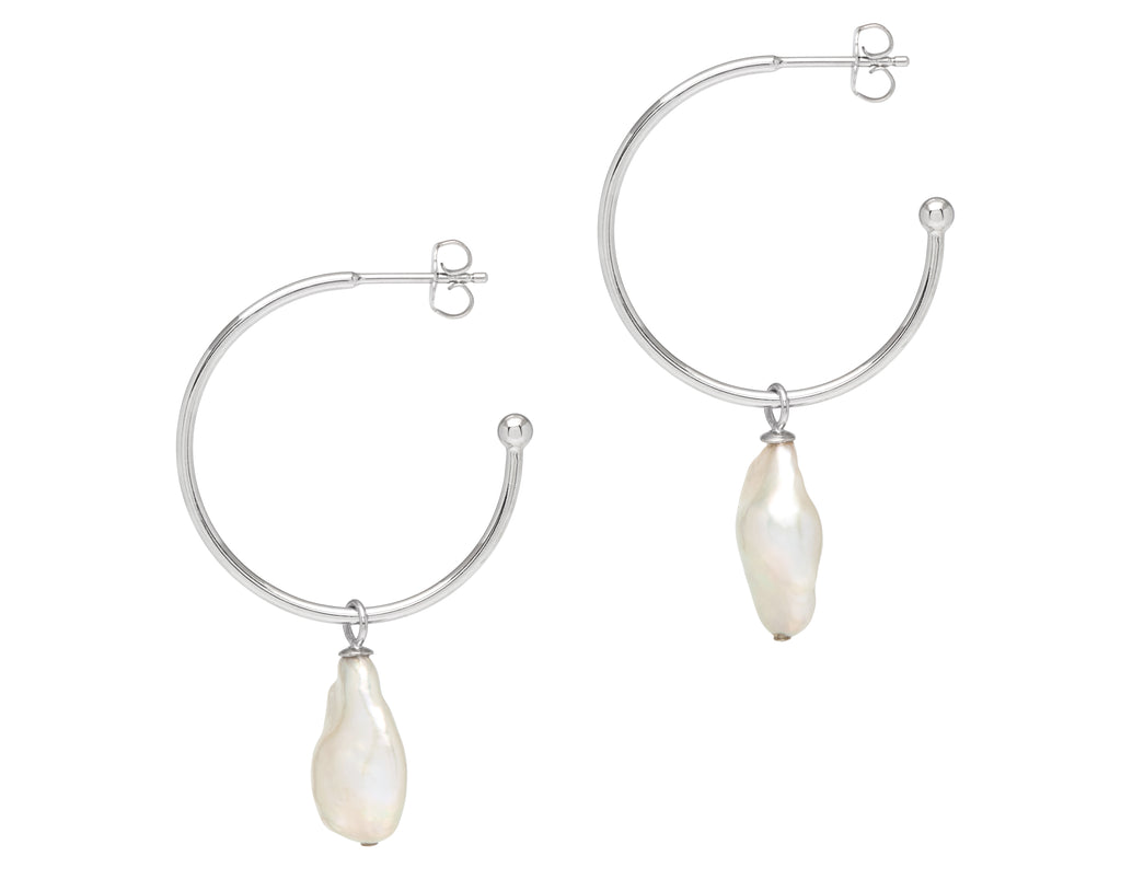 La BAROQUE Perla Hoops - Georgiana Scott Jewellery
