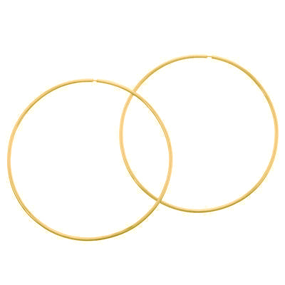 La BASICO Hoops - (Gold) - Georgiana Scott Jewellery