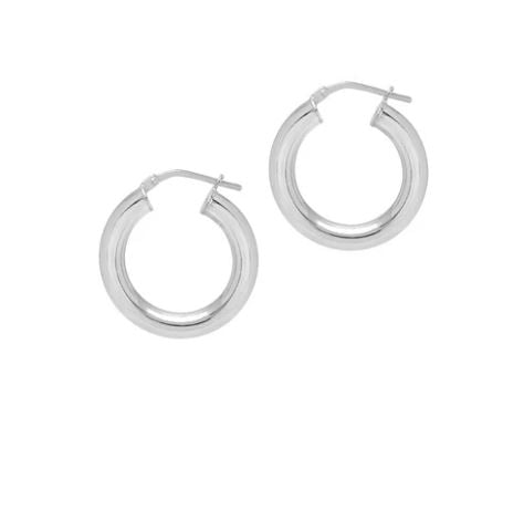 La MINI CURVACEOUS HOOPS - Silver - Georgiana Scott Jewellery