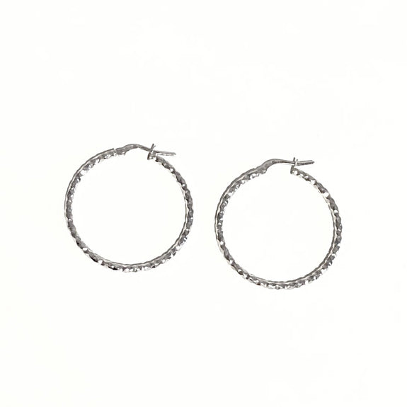 La CHISELLED SQUARE-Cut Hoops - SALE