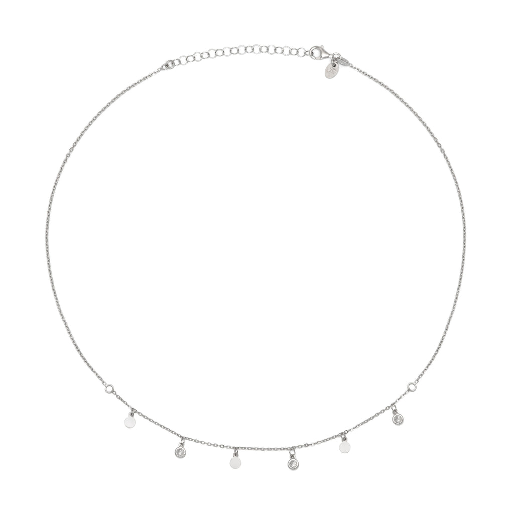 La DISCO CZ Necklace - Silver or Gold - Georgiana Scott Jewellery