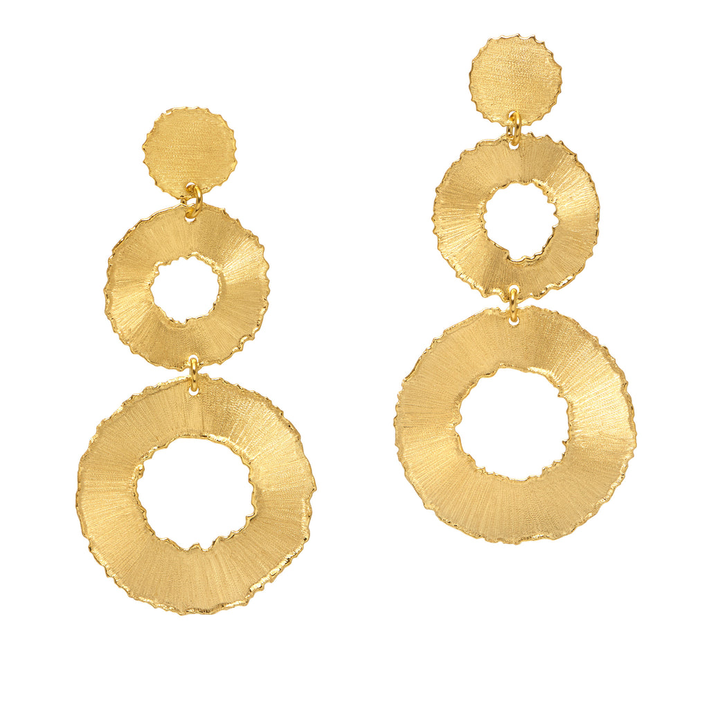 La TRIO SATINA Earrings - Gold - Georgiana Scott Jewellery