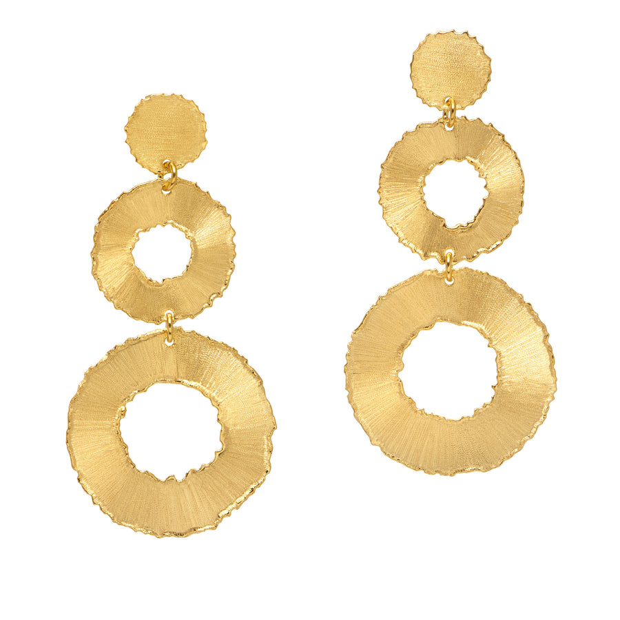 La DISCO SATINA Earrings Gold