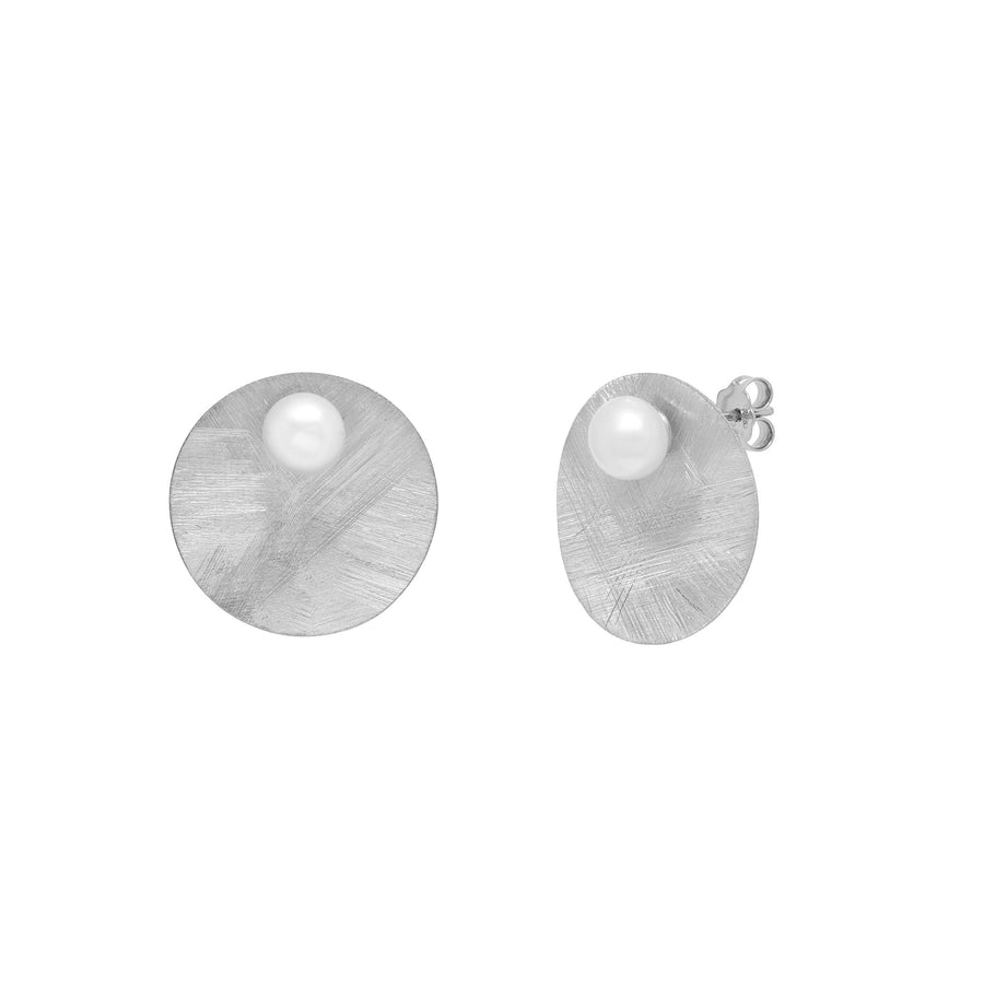 La DISCO SATINA PERLA Earrings - Silver