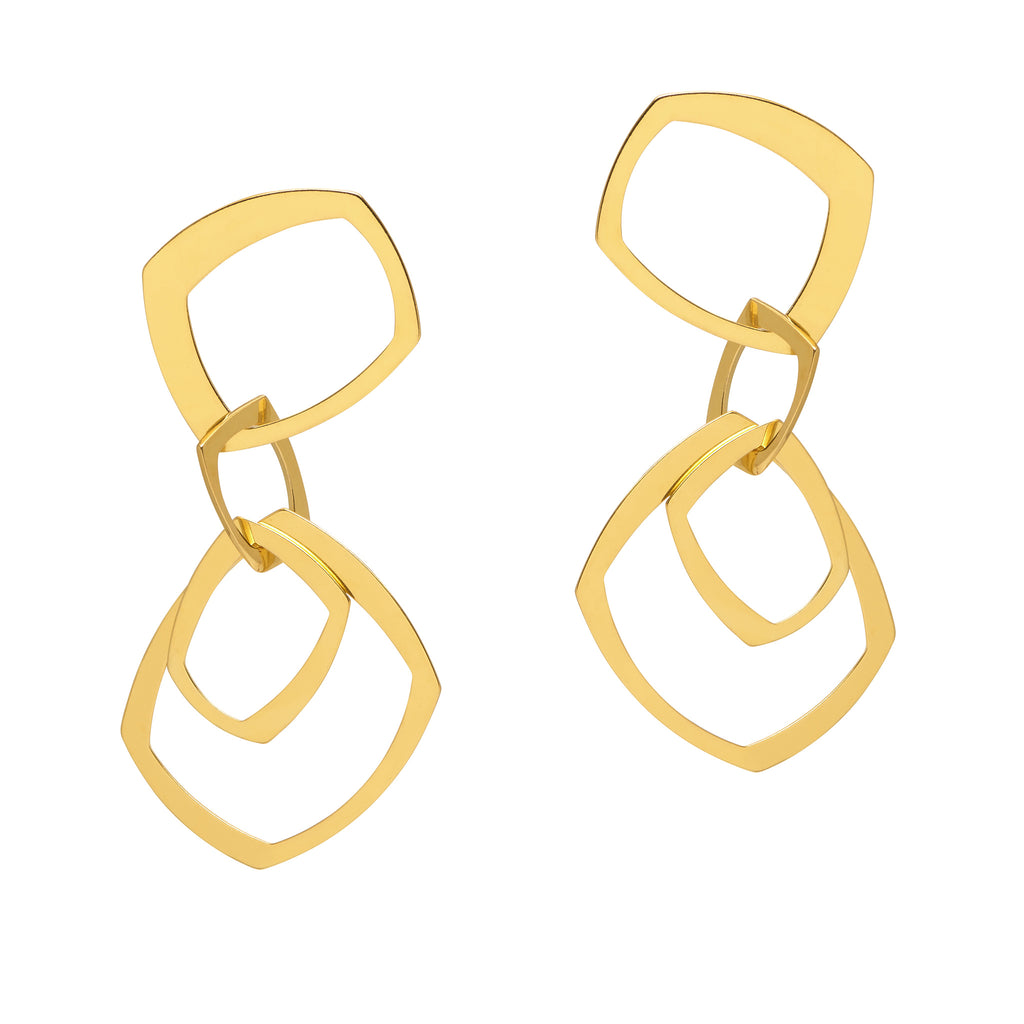 La GEOMETRICA Drop Statement Earrings - Gold - Georgiana Scott Jewellery