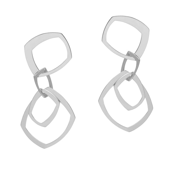 La GEOMETRICA Statement Earrings Silver