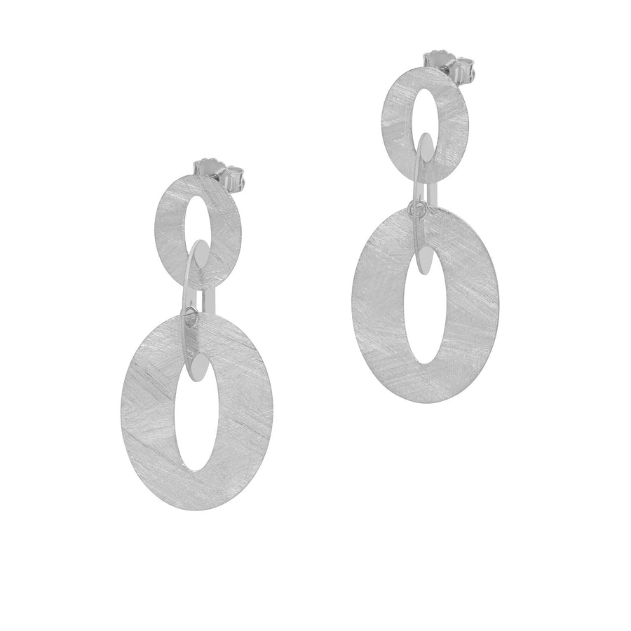 La SATINA TRIO Earrings - Silver