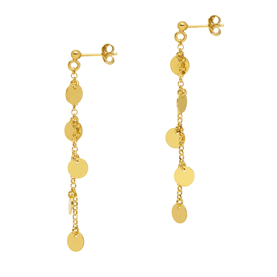 La 5 DISCO Drop Earrings Gold - SALE