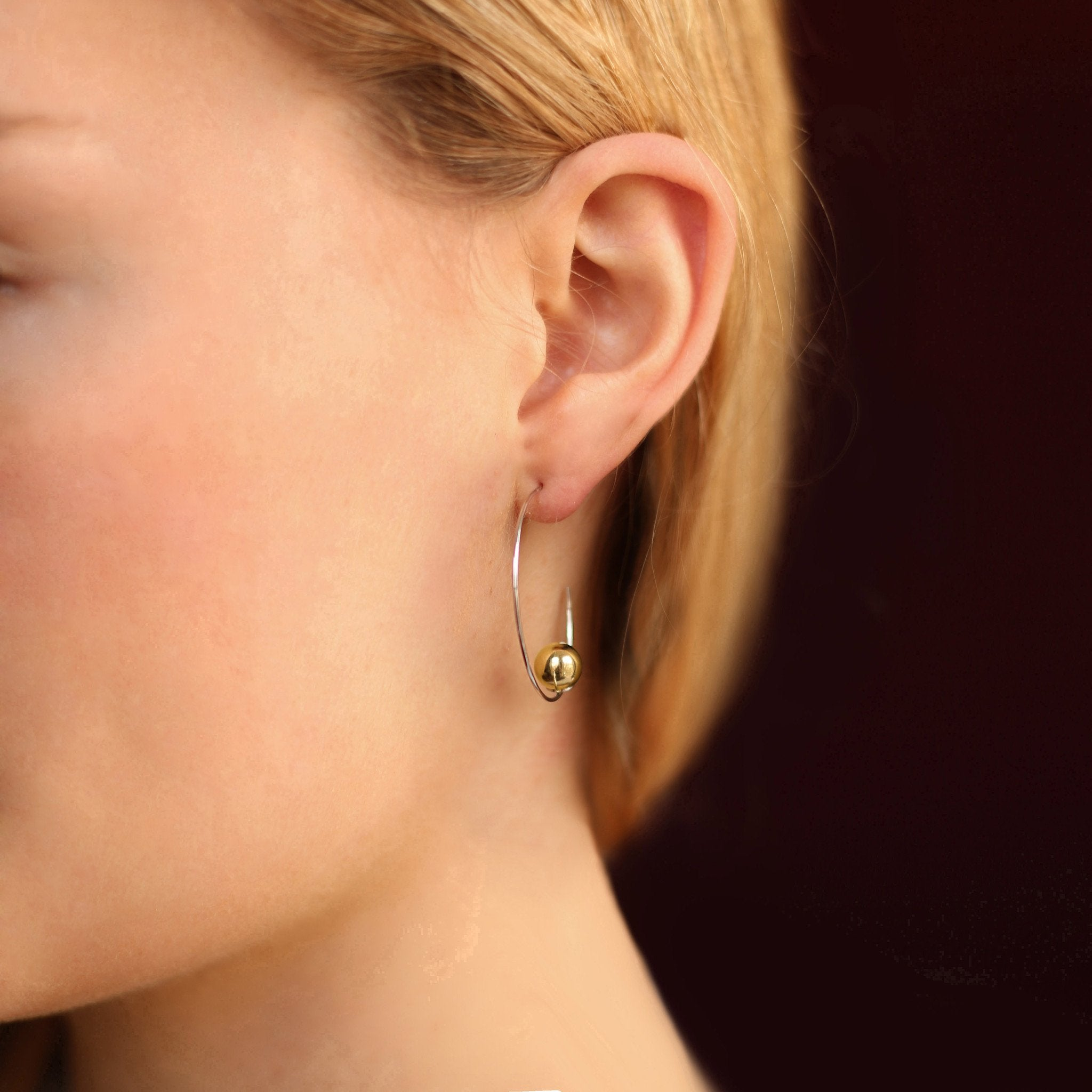 silver hoops, gold plated hoops, amazing hoops from the hoop station, georgiana scott jewellery