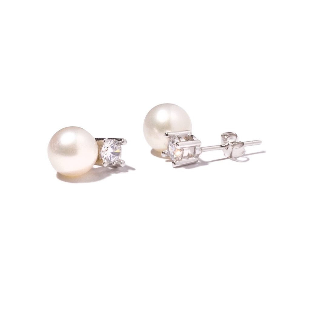 La CZ PERLA Studs - Pearl Earrings - Georgiana Scott Jewellery