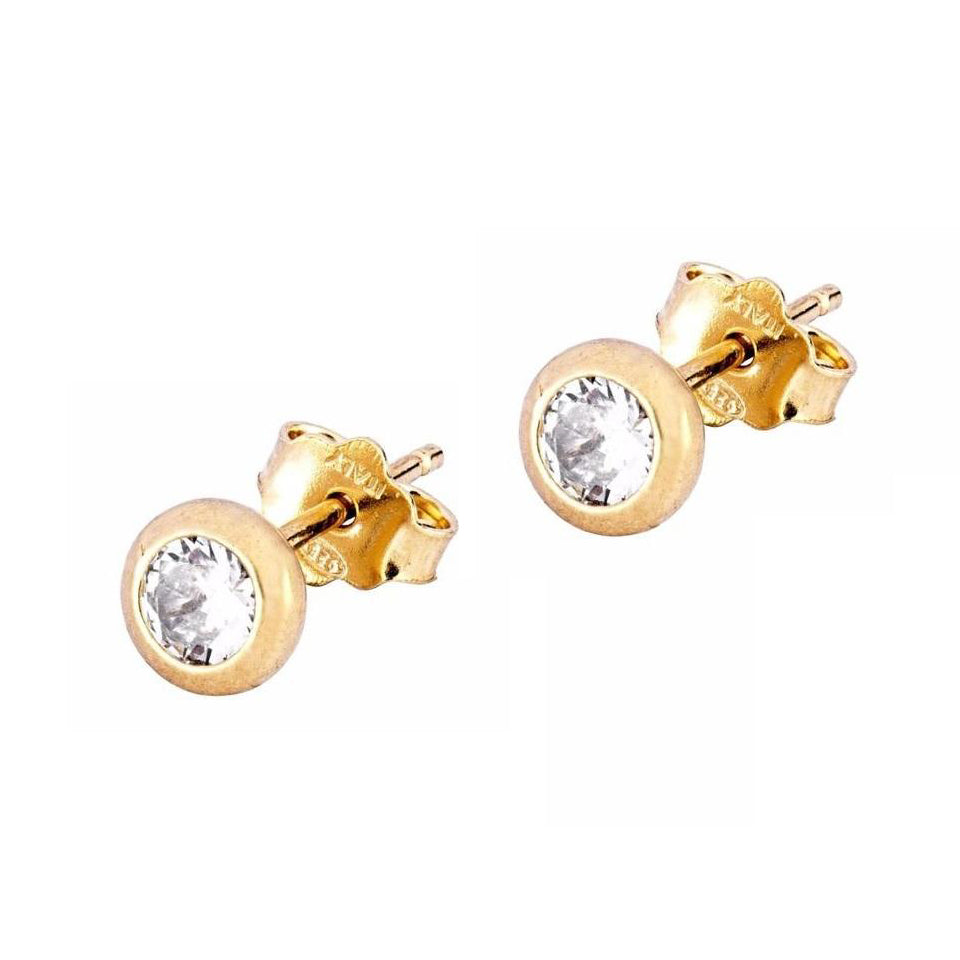 La SPARKLE Studs - Gold or Rose gold - Georgiana Scott Jewellery