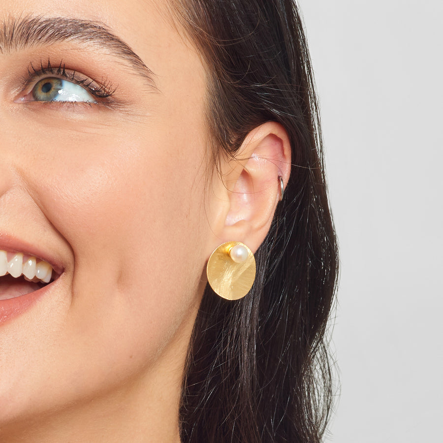La DISCO SATINA PERLA Earrings - Gold
