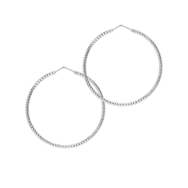 La ROMA Hoops Medium Silver - Georgiana Scott Jewellery