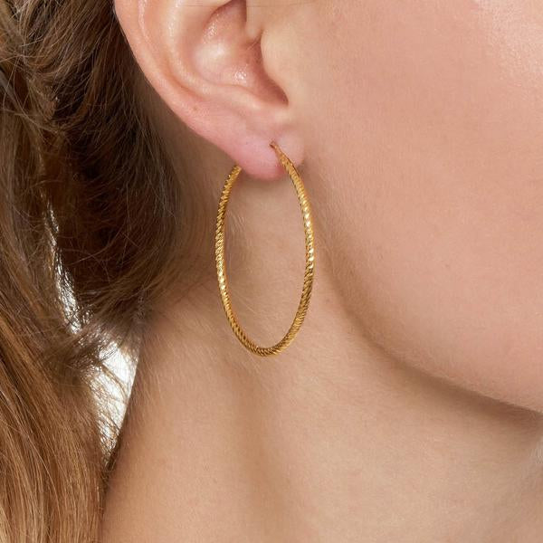 La ROMA Hoops Medium Rose Gold - Georgiana Scott Jewellery