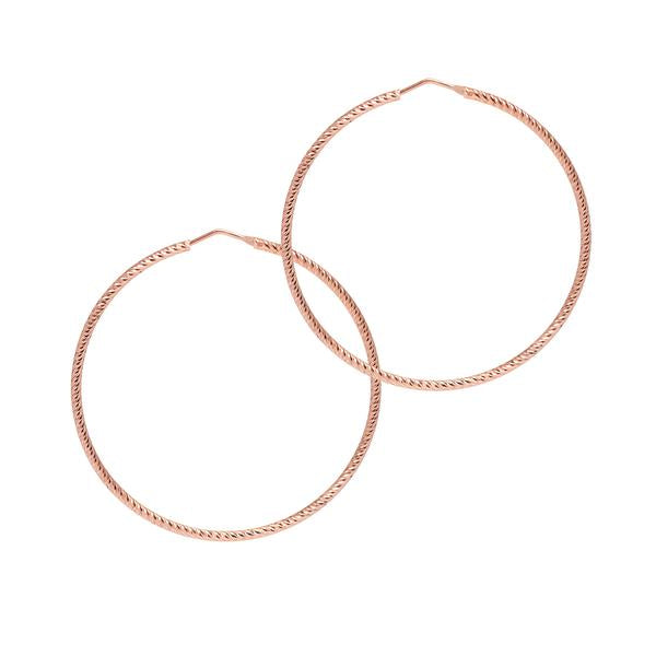 La ROMA Hoops Large Rose Gold - Georgiana Scott Jewellery