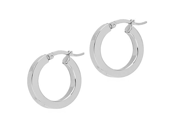 La 80's MINI SQUARE Hoops Silver