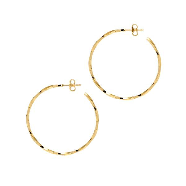 La LAGO di COMO Hoops Rose Gold - Georgiana Scott Jewellery