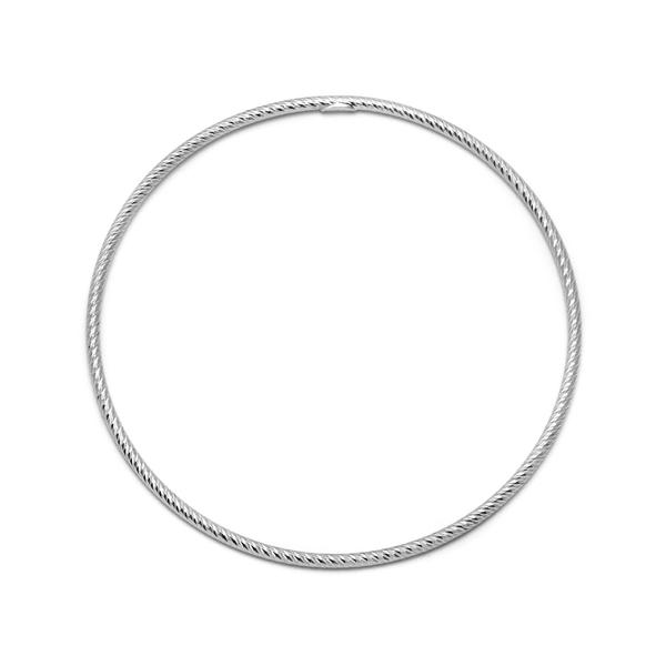 La ROMA Diamond-Cut Bangle - Silver