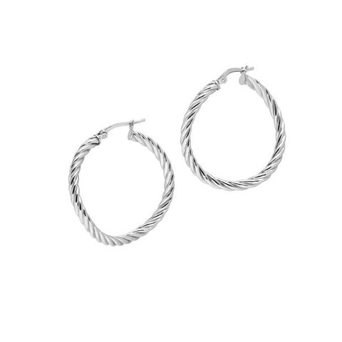 La CANDY TWIST Hoops Silver