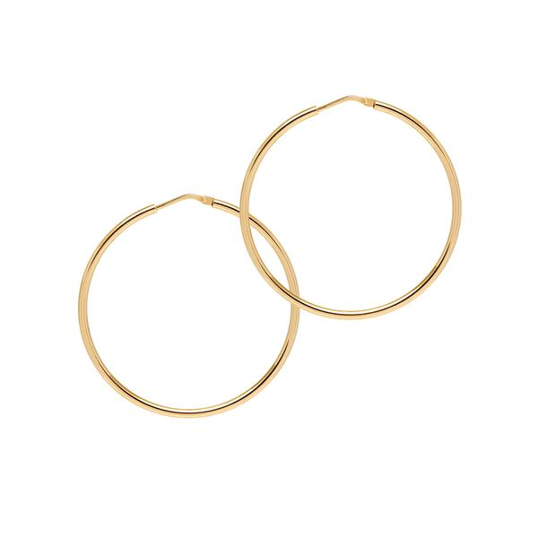 La CHICA LATINA Hoops Medium Silver - Georgiana Scott Jewellery