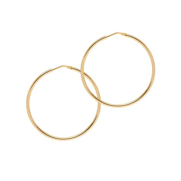 La CHICA LATINA Hoops Medium Gold - Georgiana Scott Jewellery