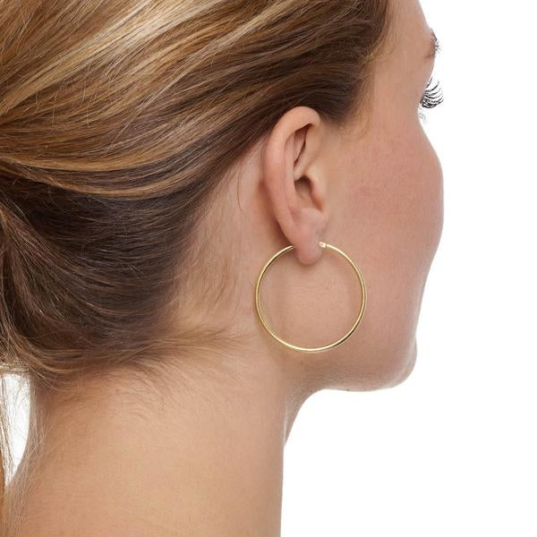 La CHICA LATINA Hoops Small Gold - Georgiana Scott Jewellery