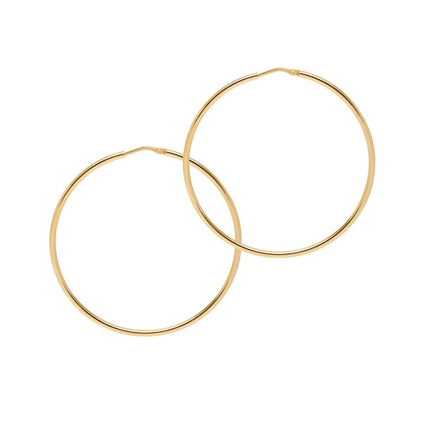 La CHICA LATINA Hoops Large Rose Gold - Georgiana Scott Jewellery