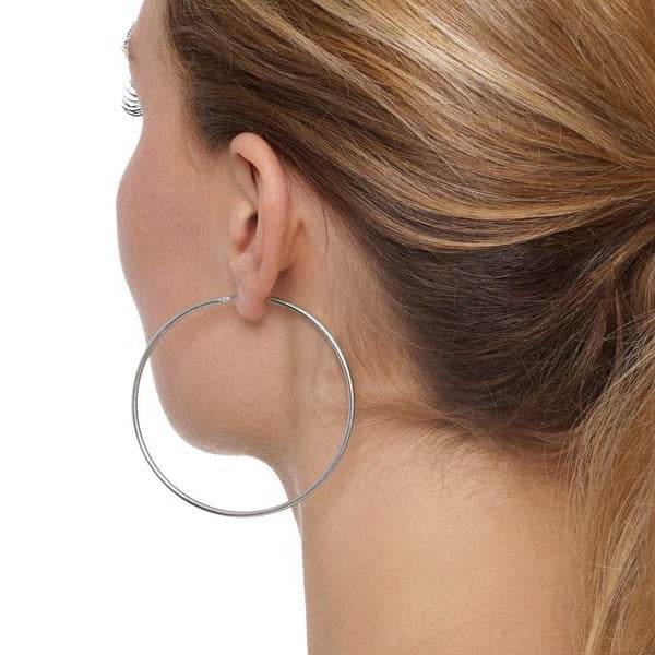 La CHICA LATINA Hoops Extra Large Silver - Georgiana Scott Jewellery