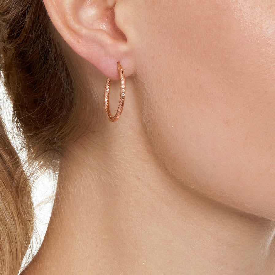 La ROMA Hoops Small Rose Gold - Georgiana Scott Jewellery