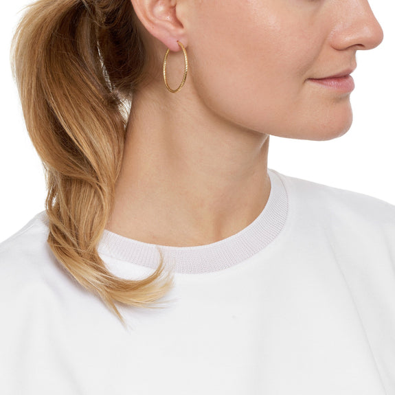 La ROMA Gold Piccolo Hoops