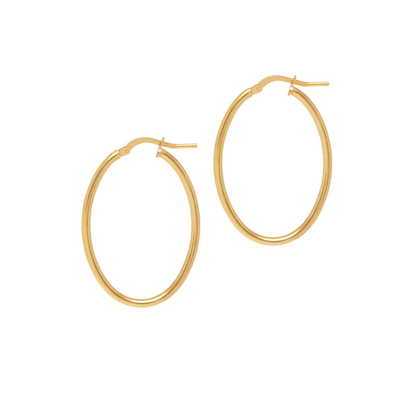 La ISOLA BELLA Oval Hoops - Gold