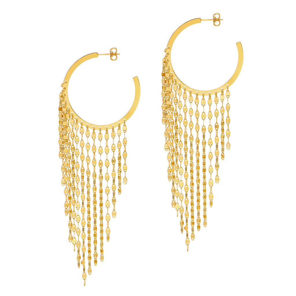 La CASCADA Drops Gold Large - SALE - Georgiana Scott Jewellery