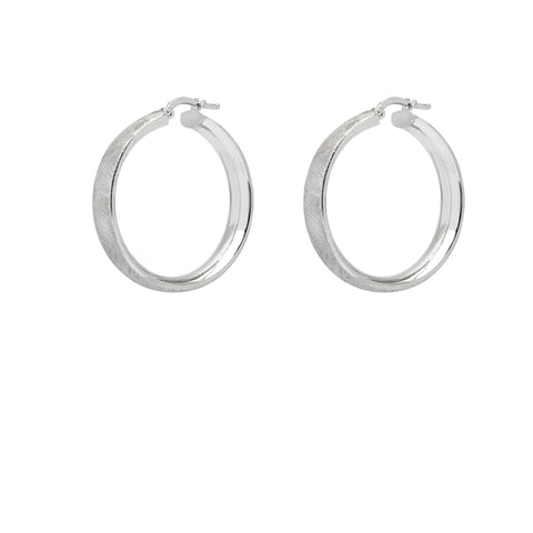 La NARROW SATINA CUFF Hoops - The Hoop Station 925 Sterling Silver Hoop Earrings Gold Huggies