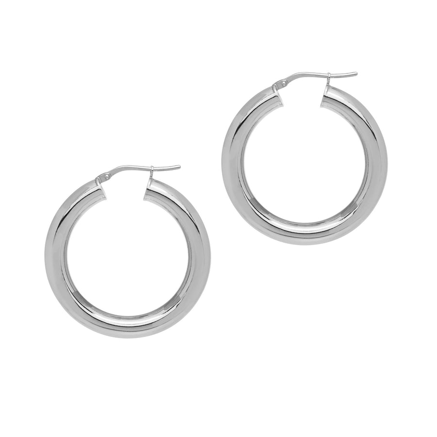 La CURVACEOUS Hoops Silver - 5 x sizes!