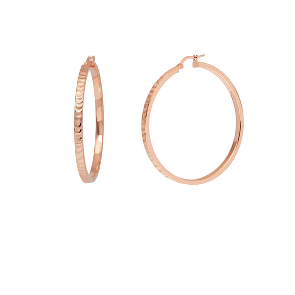 La SERPENTE Rose Gold Medio Hoops