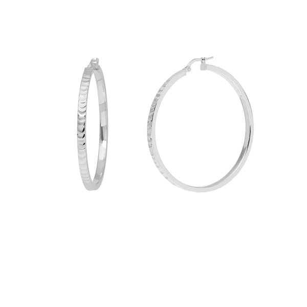 La SERPENTE Silver Medio Hoops