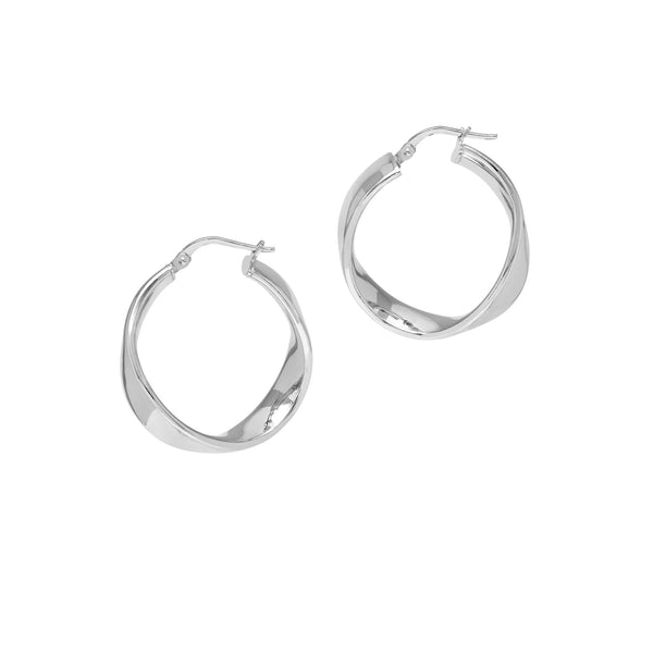 La WAVE CUFF Hoops (bigger new size) - Silver
