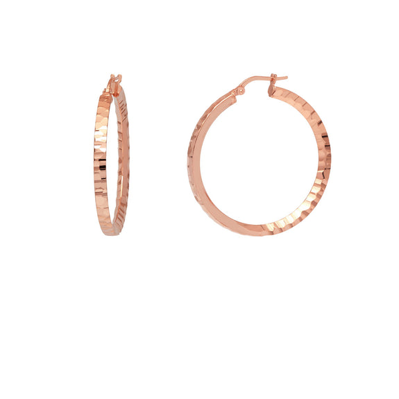 La SERPENTE Rose Gold Piccolo Hoops