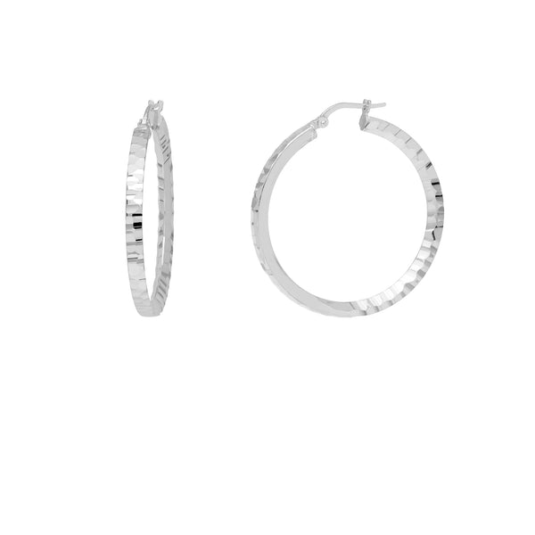 La SERPENTE Hoops - Silver