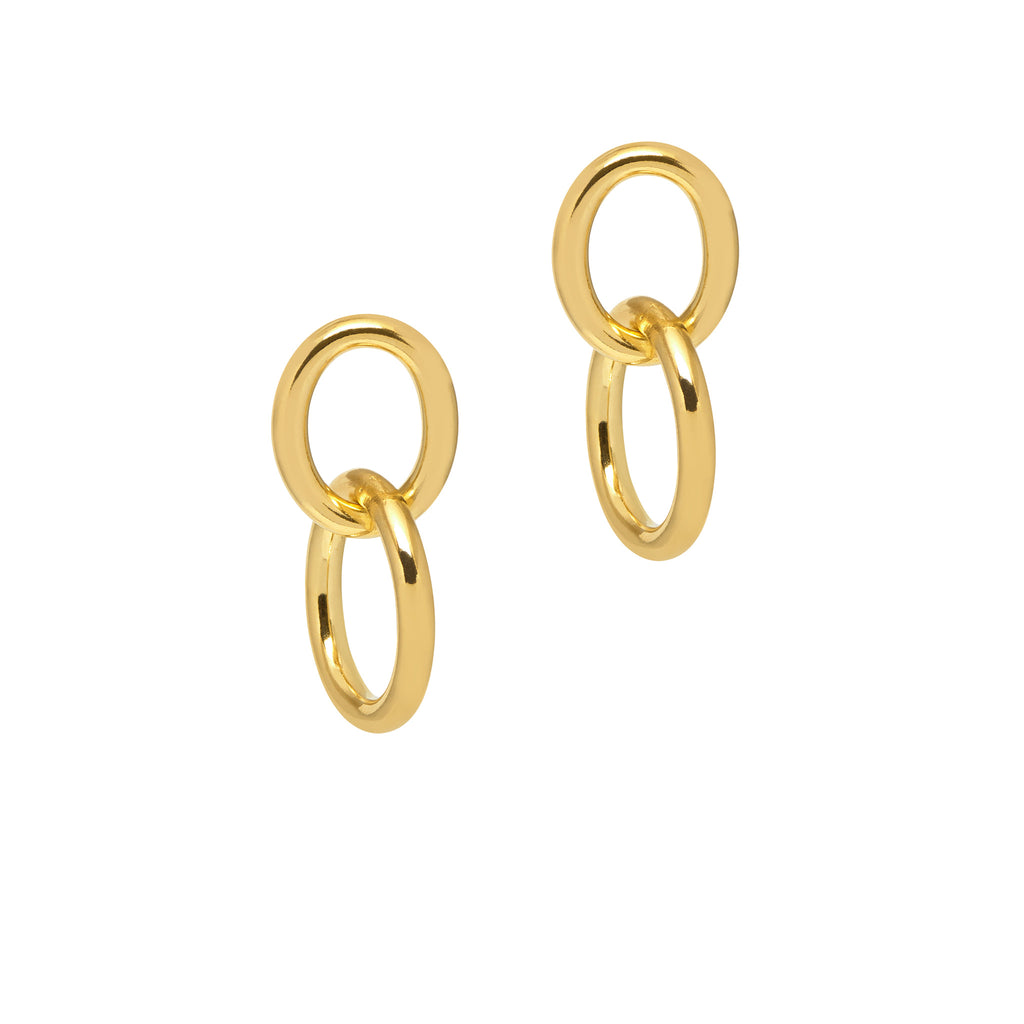 La CATENA Earrings - Gold - Georgiana Scott Jewellery