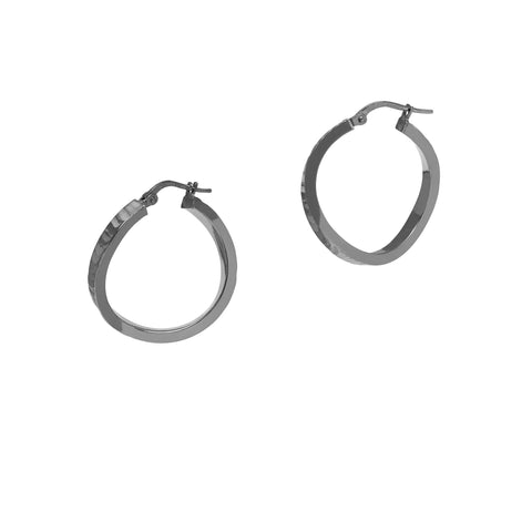 La MINI BLACK SERPENTE Hoops in Rhutenio