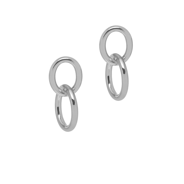 La CATENA Shiny Double Loop Earrings Gold