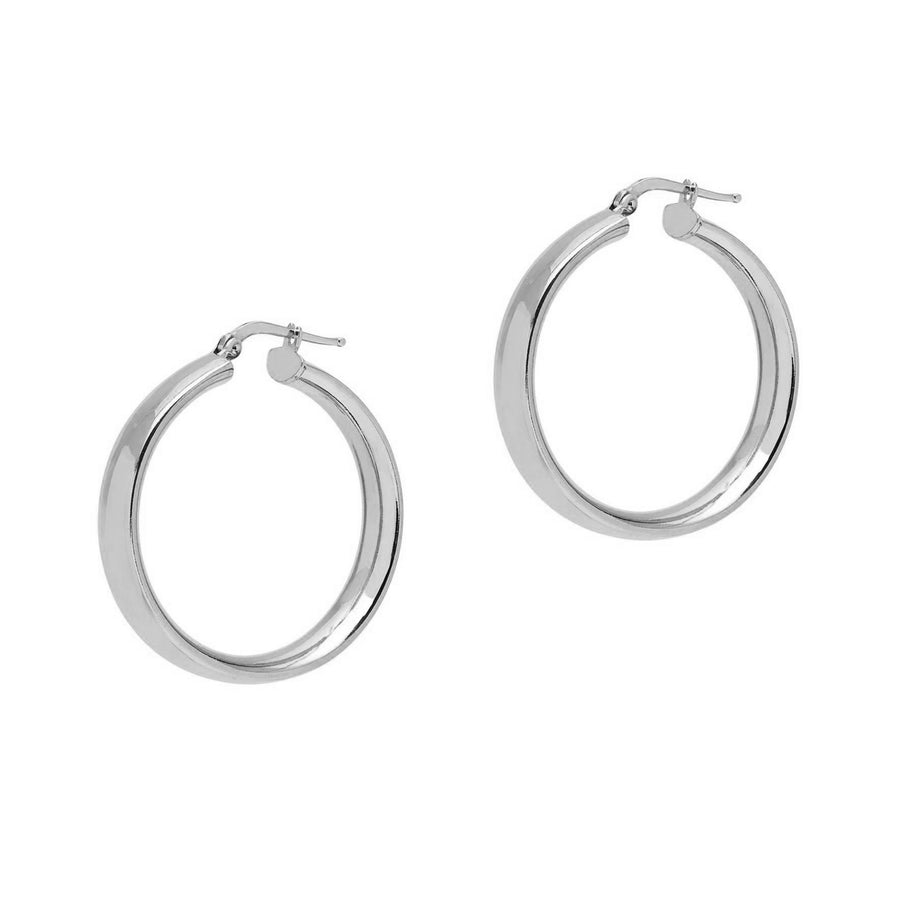 La SHINY CUFFS Hoops - Silver