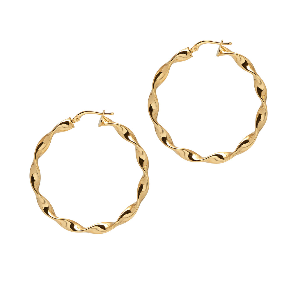 La CURLY WURLY Hoops Gold - Georgiana Scott Jewellery