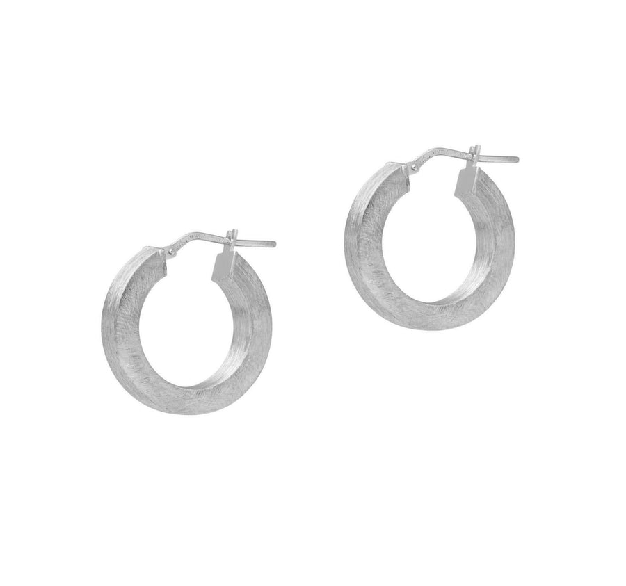 La SATINA SQUARED 'WIDE' Hoops - Silver
