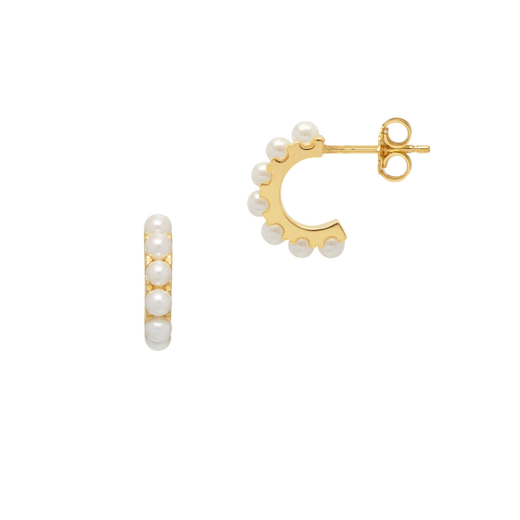 La PICCOLINA PERLA Huggies - Gold - Georgiana Scott Jewellery