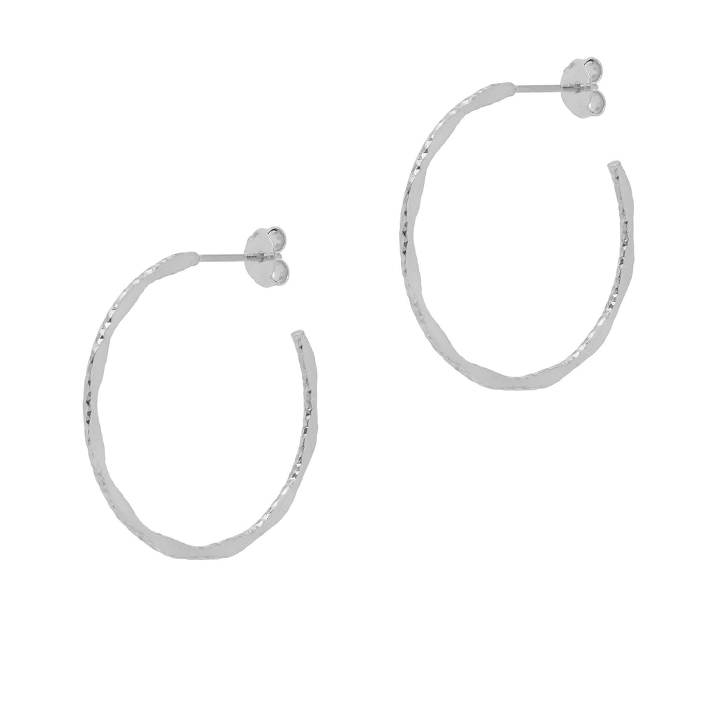 La MODENA Hoops - Silver - SMALL - Georgiana Scott Jewellery