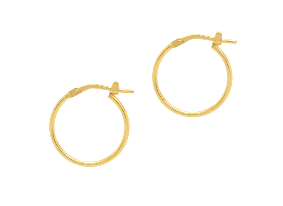 La SUPER SKINNIES - Gold - The Hoop Station 925 Sterling Silver Hoop Earrings Gold Huggies